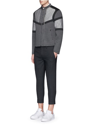 Figure View - Click To Enlarge - Neil Barrett - Zip cuff bistretch gabardine cropped pants