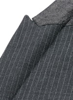 Skinny fit pinstripe stretch wool suit