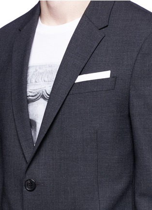 Detail View - Click To Enlarge - Neil Barrett - Slim fit bistretch gabardine suit