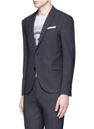 Front View - Click To Enlarge - Neil Barrett - Slim fit bistretch gabardine suit