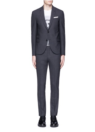 Main View - Click To Enlarge - Neil Barrett - Slim fit bistretch gabardine suit