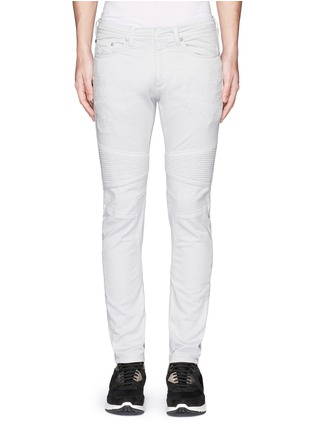 Neil Barrett - Skinny fit distressed biker jeans