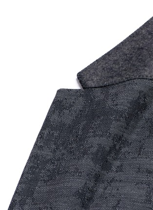 Detail View - Click To Enlarge - Neil Barrett - Slim fit camouflage jacquard blazer