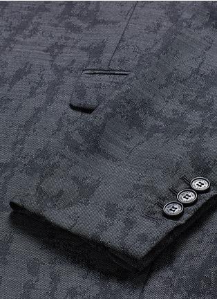 Neil Barrett-Slim fit camouflage jacquard blazer
