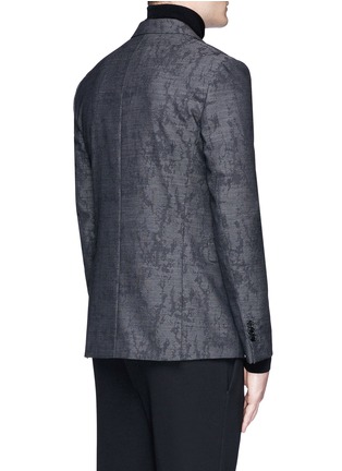Back View - Click To Enlarge - Neil Barrett - Slim fit camouflage jacquard blazer