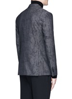 Slim fit camouflage jacquard blazer