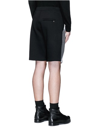 Back View - Click To Enlarge - Neil Barrett - 'Modernist' colourblock bonded jersey shorts