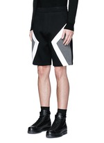 'Modernist' colourblock bonded jersey shorts