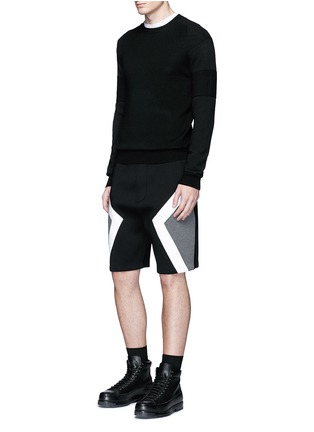 Figure View - Click To Enlarge - Neil Barrett - 'Modernist' colourblock bonded jersey shorts