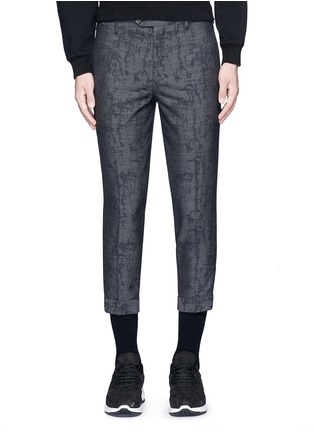 Main View - Click To Enlarge - Neil Barrett - Camouflage jacquard cropped virgin wool pants