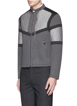 Front View - Click To Enlarge - Neil Barrett - Bonded jersey biker jacket