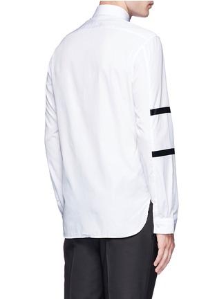 Back View - Click To Enlarge - Neil Barrett - Contrast stripe cotton poplin shirt