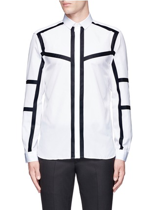 Main View - Click To Enlarge - Neil Barrett - Contrast stripe cotton poplin shirt