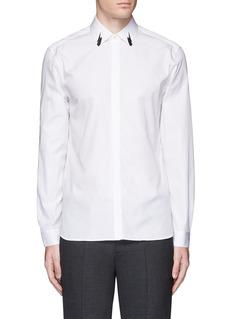 Neil BarrettThunderbolt print collar poplin shirt