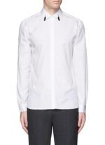 Thunderbolt print collar poplin shirt