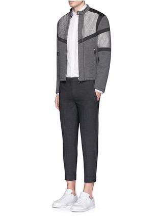 Figure View - Click To Enlarge - Neil Barrett - Thunderbolt print collar poplin shirt