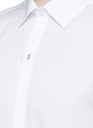 Detail View - Click To Enlarge - Neil Barrett - Thunderbolt pin tuxedo shirt