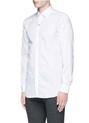 Front View - Click To Enlarge - Neil Barrett - Thunderbolt pin tuxedo shirt