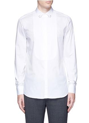 Neil Barrett-Ring collar bib front tuxedo shirt