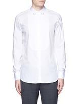 Ring collar bib front tuxedo shirt