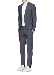 Neil Barrett Ring collar bib front tuxedo shirt