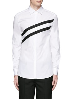 Neil Barrett Diagonal stripe poplin tuxedo shirt