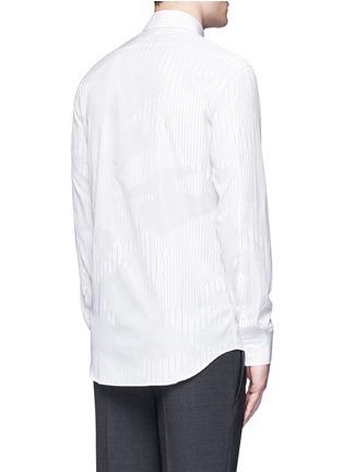 Neil Barrett-Camouflage pinstripe shirt