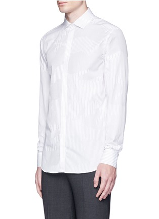 Front View - Click To Enlarge - Neil Barrett - Camouflage pinstripe shirt