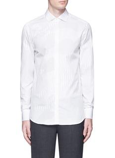 Neil BarrettCamouflage pinstripe shirt