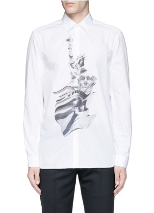 Main View - Click To Enlarge - Neil Barrett - 'Liberty President' print shirt