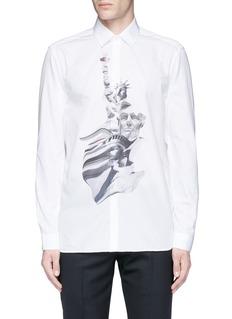 Neil Barrett'Liberty President' print shirt