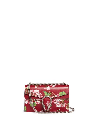 Main View - Click To Enlarge - Gucci - 'Dionysus' small floral print chain leather bag