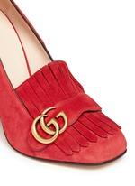 'Marmont' kiltie fringe suede loafer pumps