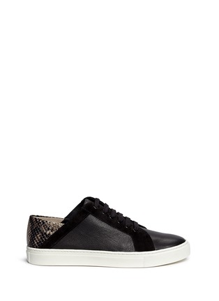 Vince - 'Anette' snake print trim leather sneakers