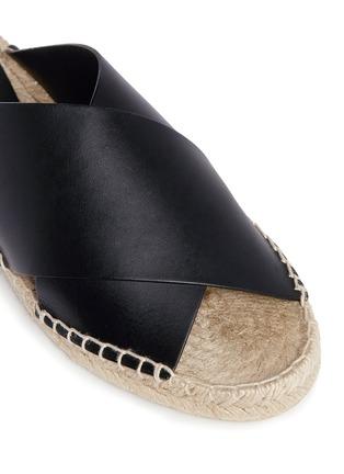 Detail View - Click To Enlarge - Vince - 'Castel' cross strap leather espadrille slide sandals