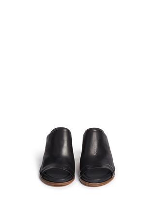 Front View - Click To Enlarge - Vince - 'Tilda' leather mule sandals