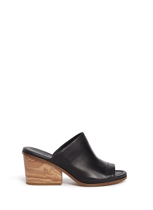 Main View - Click To Enlarge - Vince - 'Tilda' leather mule sandals