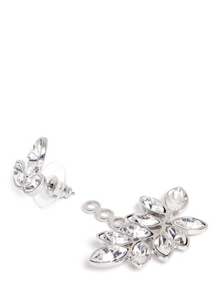 Kenneth Jay Lane - Marquise cut crystal jacket vine earrings