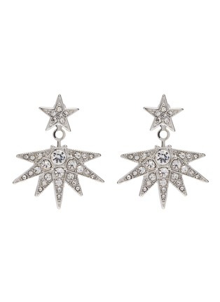 Kenneth Jay Lane - Crystal pavé starburst jacket earrings