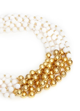 Kenneth Jay Lane - Contrast bead choker necklace
