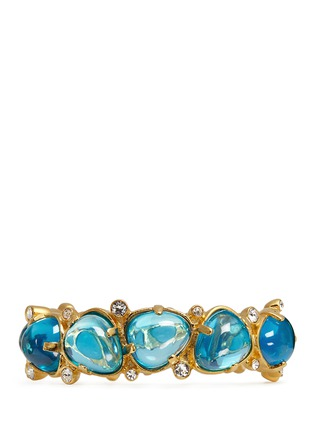 Main View - Click To Enlarge - Kenneth Jay Lane - Teardrop cabochon hinge bangle