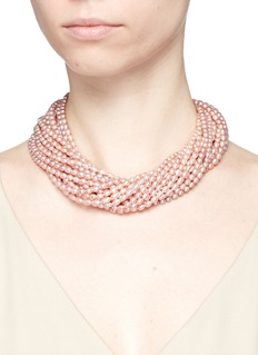 KENNETH JAY LANE Multi strand baroque pearl necklace