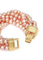Multi strand baroque pearl bracelet