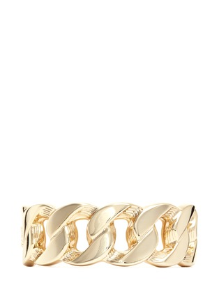 Kenneth Jay Lane - Weave chain link metal hinge bangle