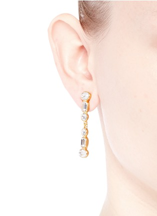 Figure View - Click To Enlarge - Kenneth Jay Lane - Mix crystal drop earrings