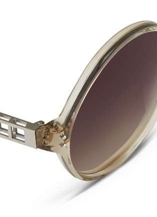 Detail View - Click To Enlarge - Linda Farrow - Oversize round acetate sunglasses