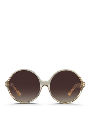 Main View - Click To Enlarge - Linda Farrow - Oversize round acetate sunglasses