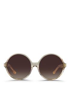 Linda FarrowOversize round acetate sunglasses