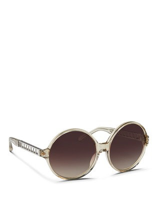 Figure View - Click To Enlarge - Linda Farrow - Oversize round acetate sunglasses