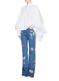 VALENTINOButterfly embroidery patch straight leg jeans